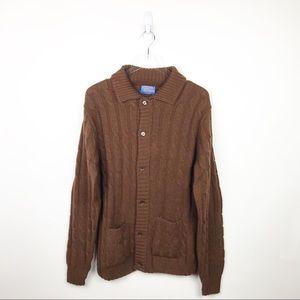 Vintage Pendleton Wool Grandpa Sweater Cardigan M